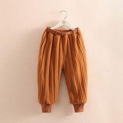 貝殼童裝 - 小童打褶襉哈倫褲
