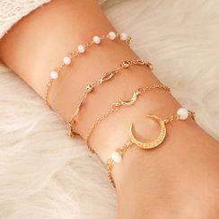 Yongge - Set of 4: Alloy Bracelet (assorted designs)