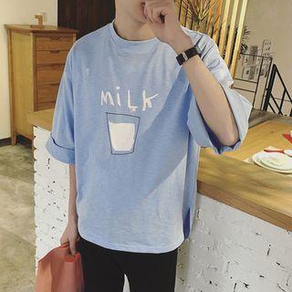 Soulcity - 'Milk' Print T-Shirt