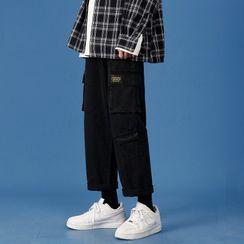 Lazi Boi - Pocket Detail Cropped Straight Leg Jeans