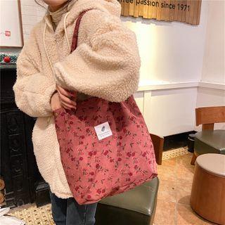 Milha - Patterned Corduroy Tote Bag