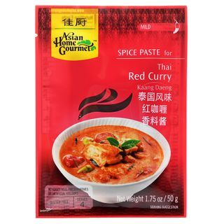Asian Home Gourmet - Spice Paste for Thai Red Curry 50g (Serves 4)