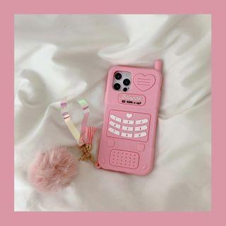 SIFFU - Retro Cellphone Phone Case - iPhone 12 Pro Max / 12 Pro / 12 / 12 mini / 11 Pro Max / 11 Pro / 11 / SE / XS Max / XS / XR / X / SE 2 / 8 / 8 Plus / 7 / 7 Plus
