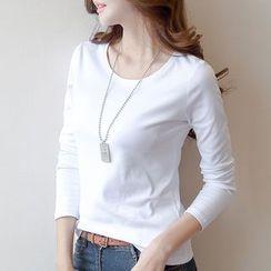 Carmenta - Plain Long-Sleeve T-Shirt