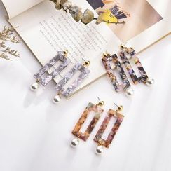 Glamiz - Marble Earrings