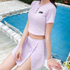 ASUMM - Set: Short-Sleeve Swim Top + Skirt