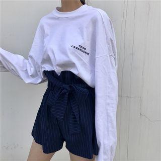 Chogen - Long-Sleeve Lettering T-Shirt