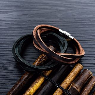 Tenri - Layered Faux Leather Bracelet
