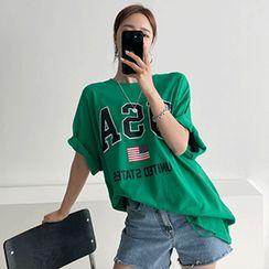 PPGIRL - Loose-Fit Printed T-Shirt