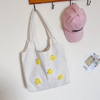 Behere - Flower Detail Tote Bag