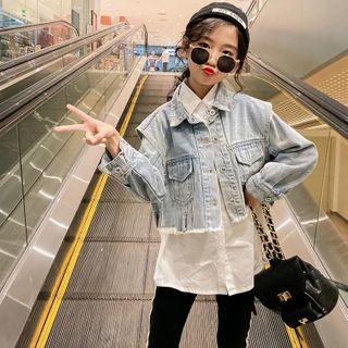 Qin Qin - 小童短款牛仔外套