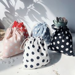 Leftsac - Drawstring Dotted Pouch