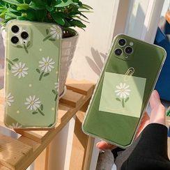 Chatarine - Floral Print Phone Case - iPhone 12 Pro Max / 12 Pro / 12 / 12 mini / 11 Pro Max / 11 Pro / 11 / SE / XS Max / XS / XR / X / SE 2 / 8 / 8 Plus / 7 / 7 Plus
