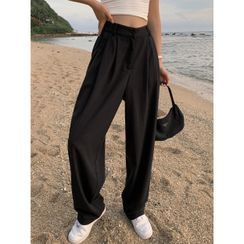 Shira - 高腰阔腿西装裤