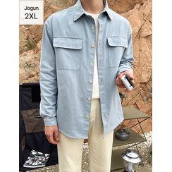 JOGUNSHOP - Flap-Pockets Loose-Fit Shirt