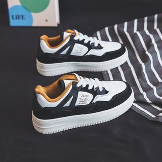 ZIMON - Lettering Lace-Up Sneakers