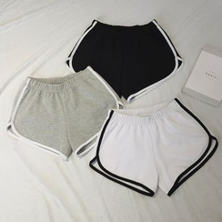 Moon City - Contrast-Trim Sweatshorts