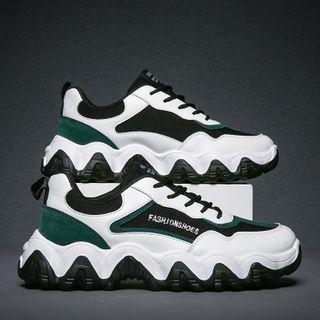 Lion Tips - Paneled Platform Sneakers