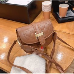 Shimme(シンメ) - Quilted Flap Crossbody Bag