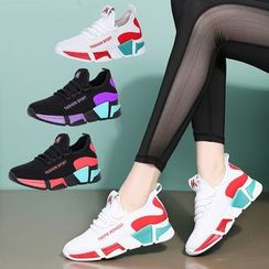 Danceon - Lettering Colour Block Athletic Dance Sneakers