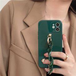 Hephone - Chunky Hand Chain Phone Case - iPhone 12 Pro Max / 12 Pro / 12 / 12 mini / 11 Pro Max / 11 Pro / 11 / SE / XS Max / XS / XR / X / SE 2 / 8 / 8 Plus / 7 / 7 Plus