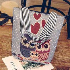 Yellowtail - Owl Canvas Tote