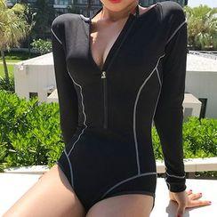Oceanid - Contrast Trim Swimsuit