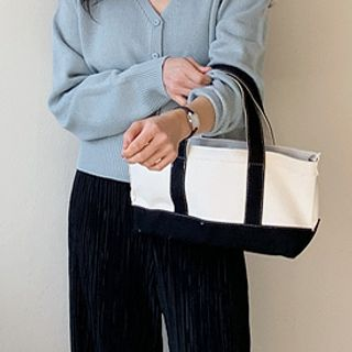 FROMBEGINNING - Two-Tone Canvas Tote