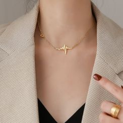 MOMENT OF LOVE - Heartbeat Rate Choker Necklace