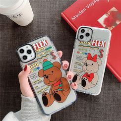 Witheart - Bear Print Mobile Case - iPhone 11 Pro Max / 11 Pro / 11 / XS Max / XS / XR / X / 8 / 8 Plus / 7 / 7 Plus / 6s / 6s Plus