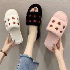GRUNE - 草莓拖鞋