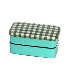 Hakoya - Hakoya Nunobari 2 Layers Lunch Box S Hoccori Green