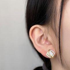 Kinkoza - Cat Eye Stone Rhinestone Earring