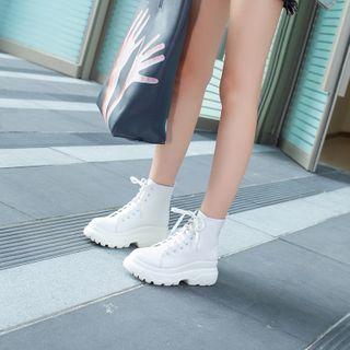 Comof - Platform Lace-up Short Boots