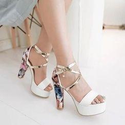 Pastel Pairs - Platform Heeled Sandals