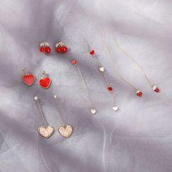 Jasminte - Heart Drop Earring (Various Designs)