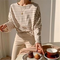 Ontheriver - Round-Neck Striped T-Shirt