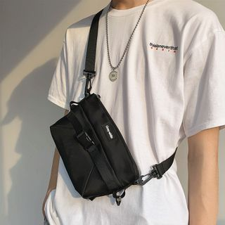 SUNMAN - Buckled Nylon Sling Bag