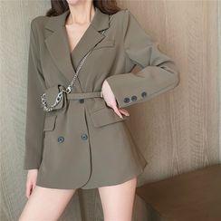 80PERCENT - 双排扣西装外套 / 腰包