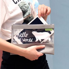 KIITOS - 印花透明拼接手包