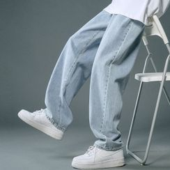 YERGO - 宽腿牛仔裤
