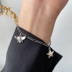 Penguin Lab - 蝴蝶及星星纯银手链
