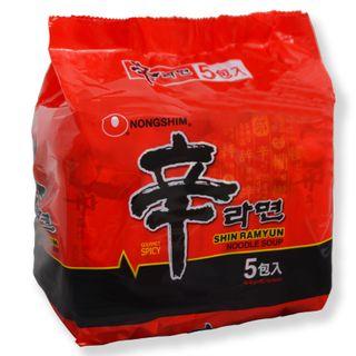 Grainee Foods - Nongshim Shin Ramyun Noodle Spicy Mushroom Flavor (Pack of 5)