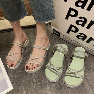 Youaisha - Embellished Platform Sandals