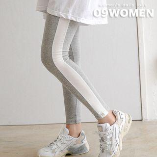Seoul Fashion - PLUS SIZE Contrast-Trim Leggings