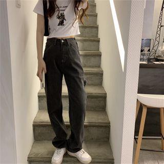 Moon City - High-Waist Wide-Leg Jeans
