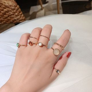 Ticoo - Set of 8: Alloy Ring (assorted designs)
