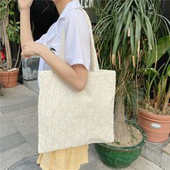 Milha - Floral Embroidered Tote Bag