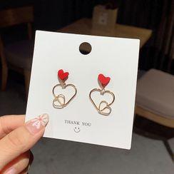 Gold Beam - Alloy Heart Dangle Earring