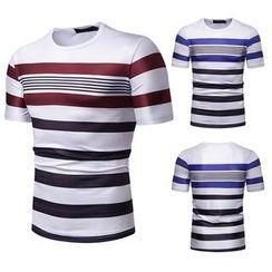 Sheck - Short-Sleeve Striped T-Shirt